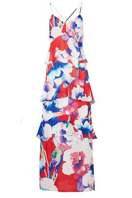 a3334c3aafd5b Salsa Red Floral Maxi by Josie by Natori for $50 - $65 | Rent the Runway