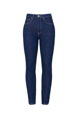 Dark Blue Vintage Crop Jeans by Jordache