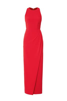 Red Column Gown by JS Collection
