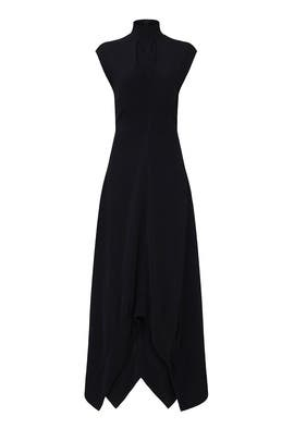 Black High Neck Gown by Proenza Schouler