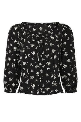 Black Floral Tie Top by Sweet Baby Jamie