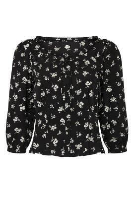 Black Floral Tie Top by Sweet Baby Jamie