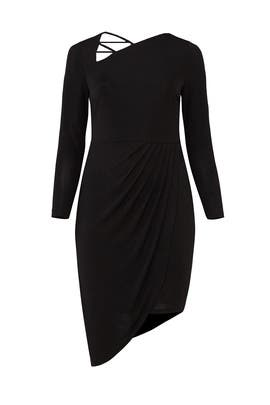 Black Strappy Neckline Dress by ELOQUII