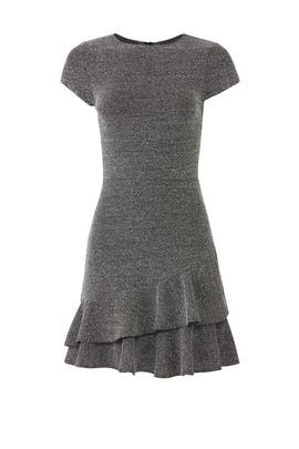 Tweed Ruffle Hem Dress by Slate & Willow