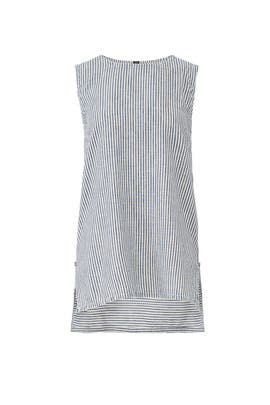 Pinstripe Denim Top by Victor Alfaro