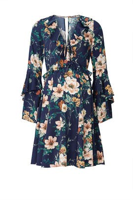 Floral Bell Sleeve Maternity Dress by Yumi Kim