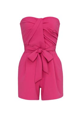 Pink Strapless Romper by Great Jones