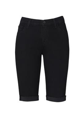 Black Denim Bermuda Shorts by J BRAND