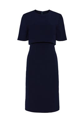 Navy Overlay Sheath by Jason Wu Collective