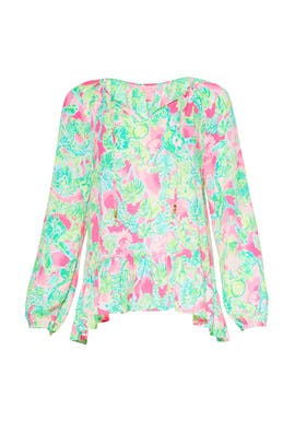 Floral Tensley Top by Lilly Pulitzer