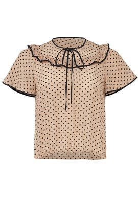 Blush Polka Dot Top by RED Valentino