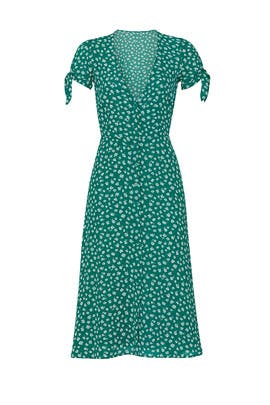Green Rosalinda Dress by Reformation