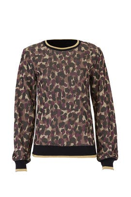 Cheetah Marita Sweatshirt by Trina Turk
