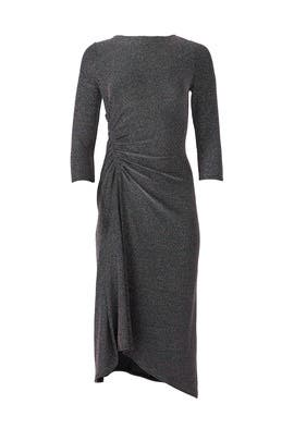 Metallic Knit Midi Dress by Donna Morgan