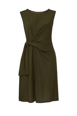 Olive Tie Front Dress by ELOQUII