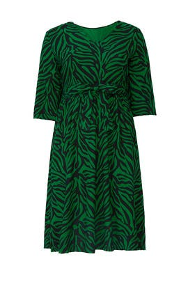 Zebra Midi Dress by JUNAROSE