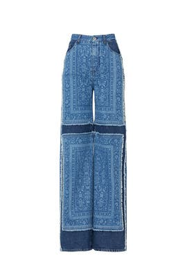 Denim Patch Carpenter Pants by Jonathan Simkhai