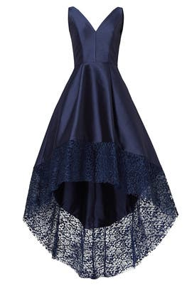945792ff41e1 Navy Spiderweb Gown by ML Monique Lhuillier for $85 - $100 | Rent ...