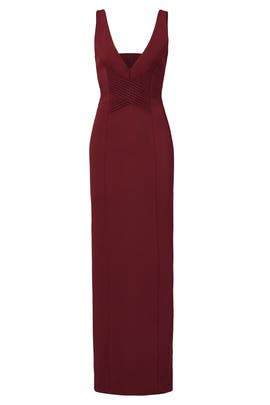 Plum Column Gown by Nicholas