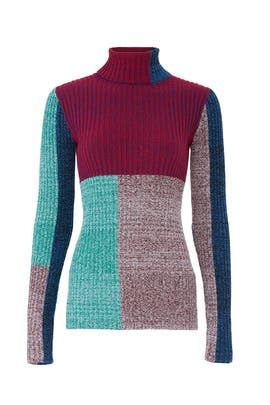 Mixed Patchwork Pullover by 3.1 Phillip Lim