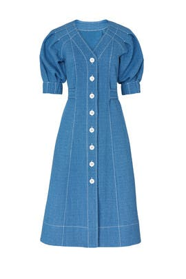 Denim Tie Back Dress by Perseverance London