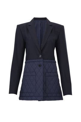 8c435da93117 Quilted Combo Blazer by Tibi for $100 | Rent the Runway