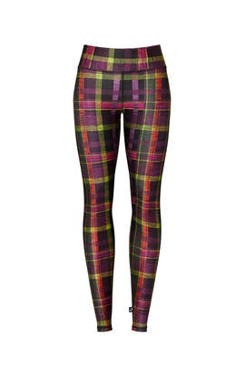 As If Plaid Tall Band Leggings by Terez