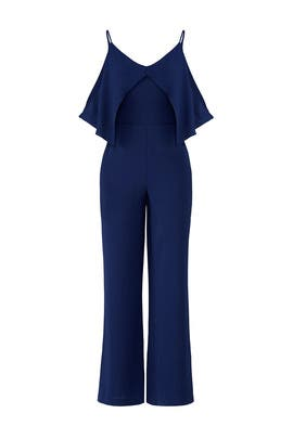 Blue Overlay Jumpsuit by Adelyn Rae