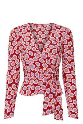 Alexia Wrap Top by Diane von Furstenberg