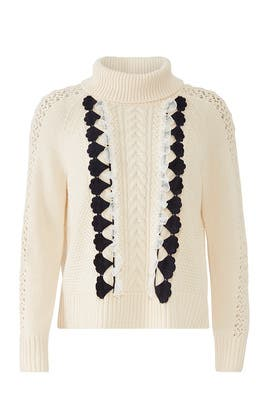 Embellished Cable Sweater by J.Crew
