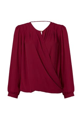 Burgundy Venice Top by Paper Crown
