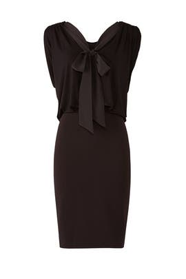 Black Draped Dress by Badgley Mischka