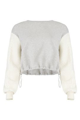 French Terry Cable Sweatshirt by 3.1 Phillip Lim