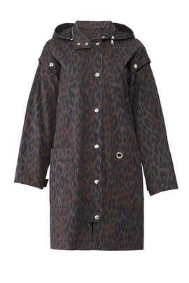 Charcoal Leopard Coat by Proenza Schouler White Label