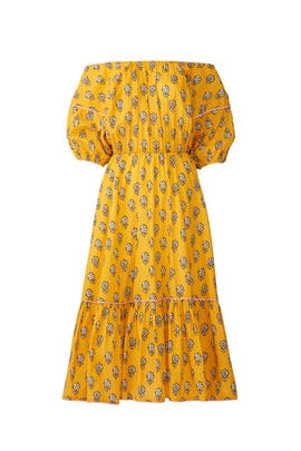 Yellow Frida Dress by RHODE