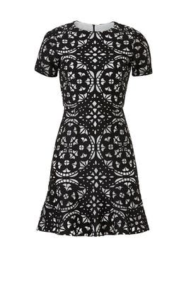 Black Laser Cut Dress by Slate & Willow