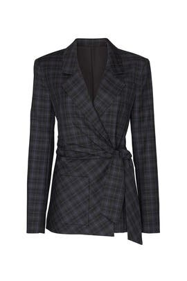 Marvel Plaid Wrap Jacket by Tibi