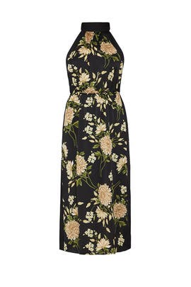 Dark Floral Halter Dress by BCBGMAXAZRIA