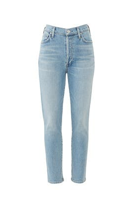 Olivia Seamed Crop Jeans by Citizens Of Humanity
