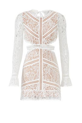 White Emerie Cut Out Dress By For Love And Lemons For 40