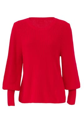 Red Bishop Sleeve Sweater by 525 America