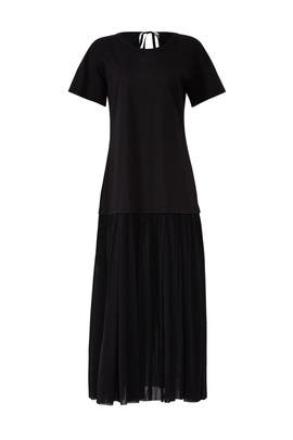 Jersey Drop Waist Dress by Jil Sander Navy