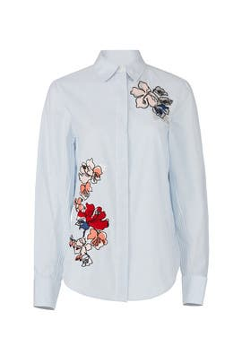 Embroidered Floral Button Down by Jason Wu