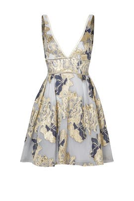 386dcbef Metallic Floral Cocktail Dress by Marchesa Notte for $90 - $105 ...