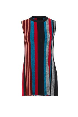 Marled Ottoman Stripe Top by Proenza Schouler
