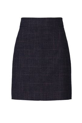 Ink Navy Plaid Skirt by See by Chloe