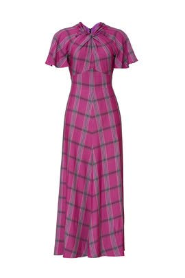 Isobel Check Twist Dress by Temperley London