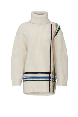 Multi Stripe Wool Sweater by Tory Sport