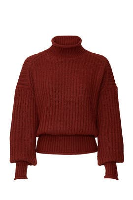 Red Turtleneck Sweater by VERO MODA