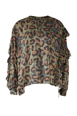 Green Leopard Top by Zadig & Voltaire
